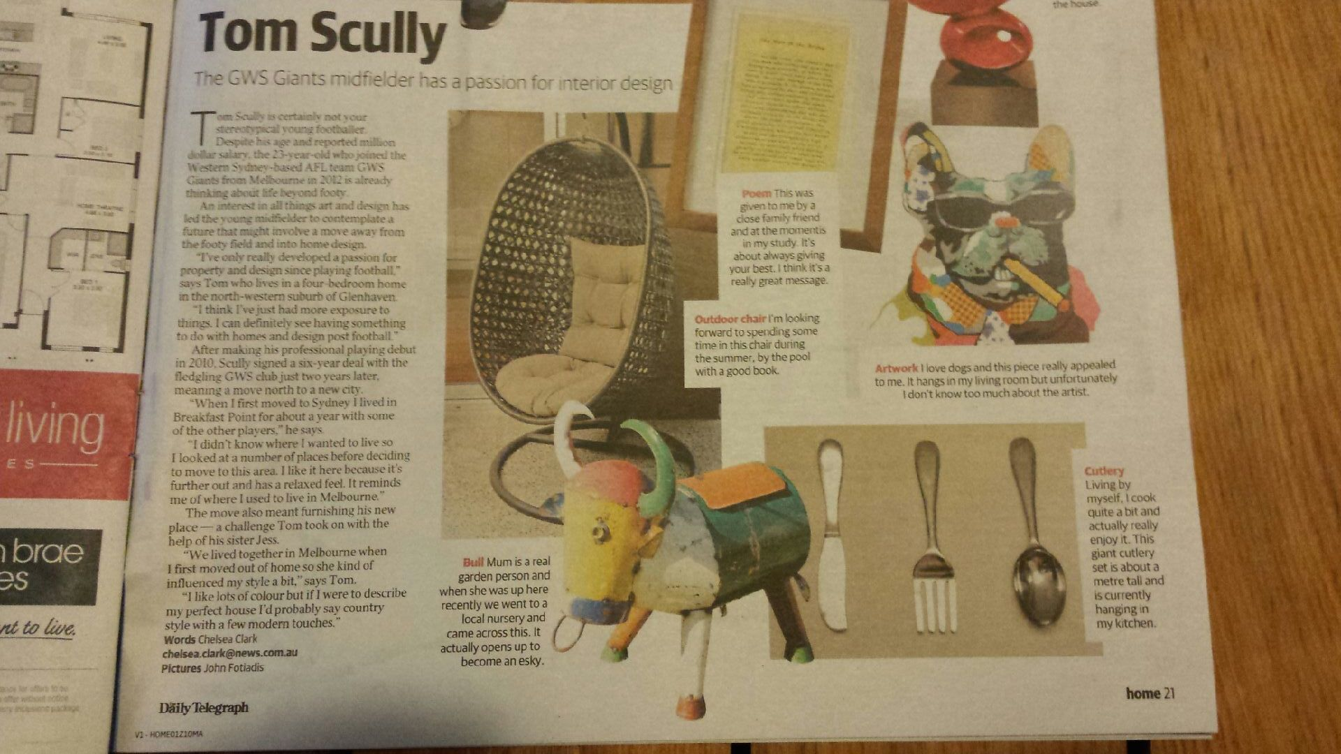 Daily Telegraph 29.08.14 – Tom Scully and his Mum love our Esky!