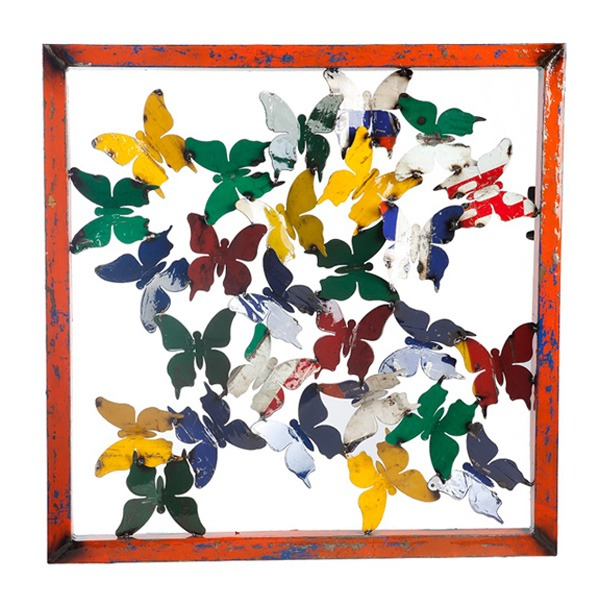 Butterfly Framed Wall Panel