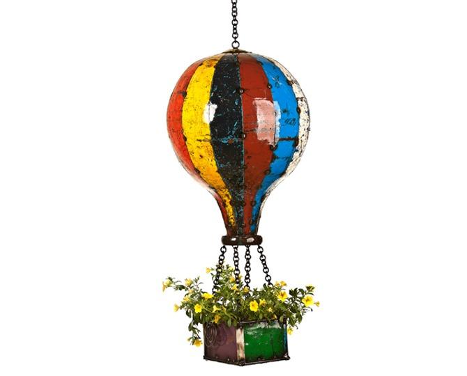 Hot Air Balloon Large Planter Birdfeeder Candle Holder Think