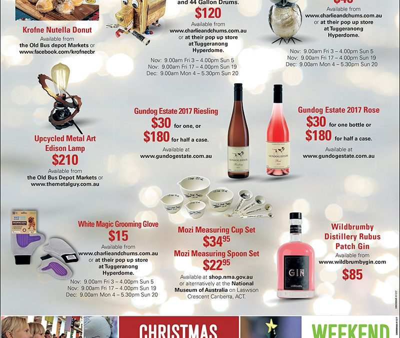 Canberra Xmas Gifts