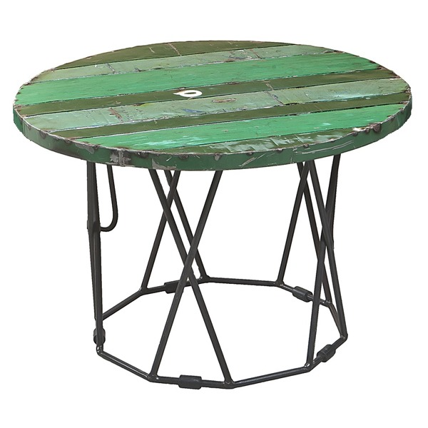Infinity Table - Green - Recycled | Handcrafted